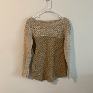It's Our Time Tan Brown Color Block Sweater